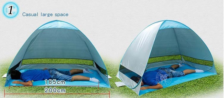 Outdoor 1~2 persons beach sunshade tent pop up shelter fishing tent. Lightweight easy to carry and store. & small beach tent beach tent pop up