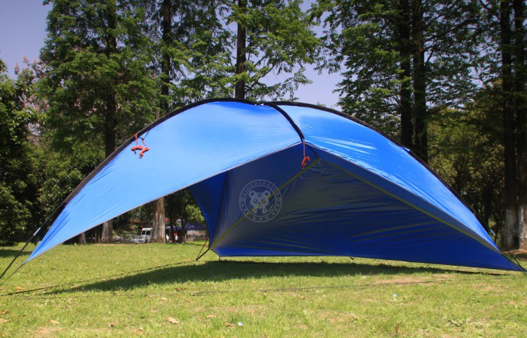 Outdoor large sunshade tent for 10+ persons waterproof and anti UV. Suits for reunion c&ing barbecue etc. Lightweight easy to carry and set up. & sunshade tent?beach tent shelter