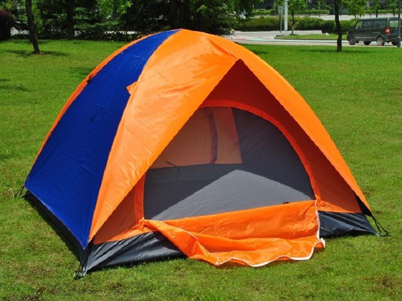 Tent Double Garage : Double layer camping tent unique