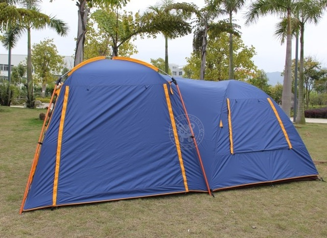 Outdoor 4~6 persons double layers family c&ing tent big tent with one bedroom and one living room rainproof and anti UV. & big leisure camping tent large family camping tent