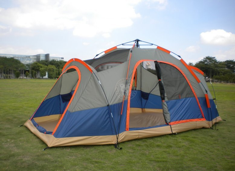 1) The latest 6 people quick open automatic easy tent 2 rooms and 4 doors and 1 window (Front door is double open ... & automatic camping tent camping tent pop up