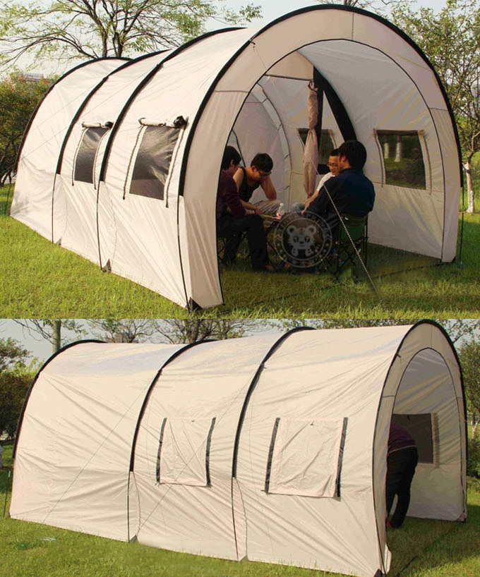 Large outdoor c&ing rain-proof tunnel tent family c&ing tent with two bedrooms and one parlor especially suits for company team outdoor c&ing or ... & large outdoor activity tunnel tent huge camping tent