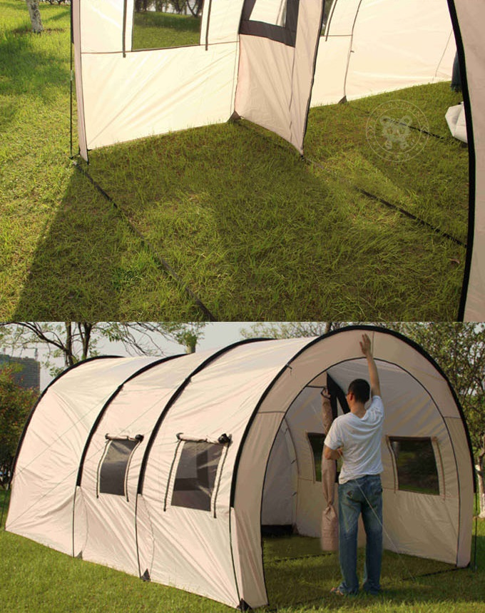 ... c&ing tent with two bedrooms and one parlor especially suits for company team outdoor c&ing or training etc. Height up to 2.1m people can stand ... & large outdoor activity tunnel tent huge camping tent