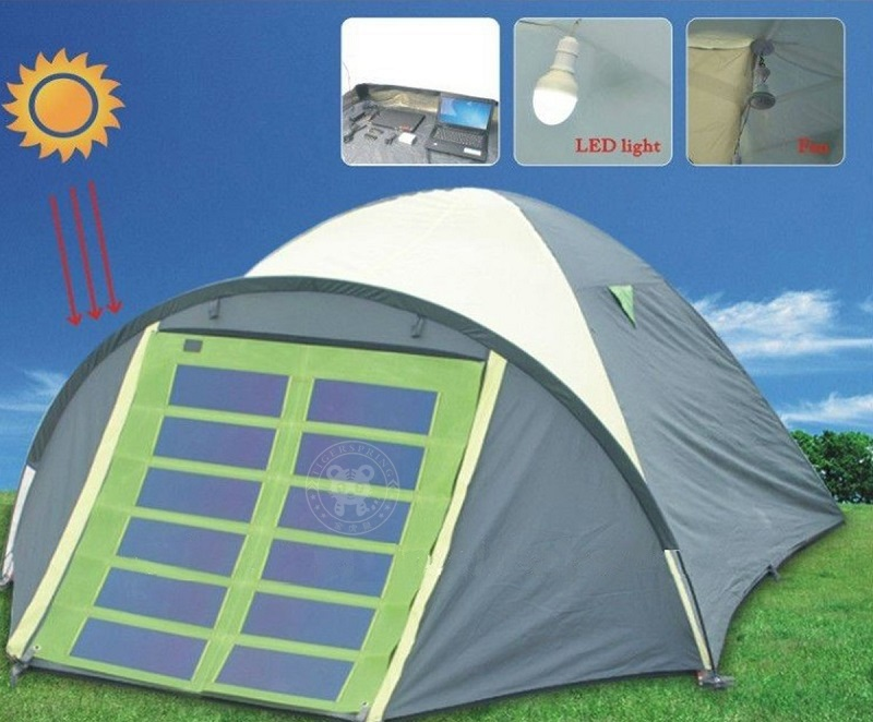 1) The solar panel is detachable to the solar tent. When you clear the tent or in rainy day you can move the solar panel. 2) Standard accessories include ...  sc 1 st  outdoor-tent.com & solar power tent folding camping tent