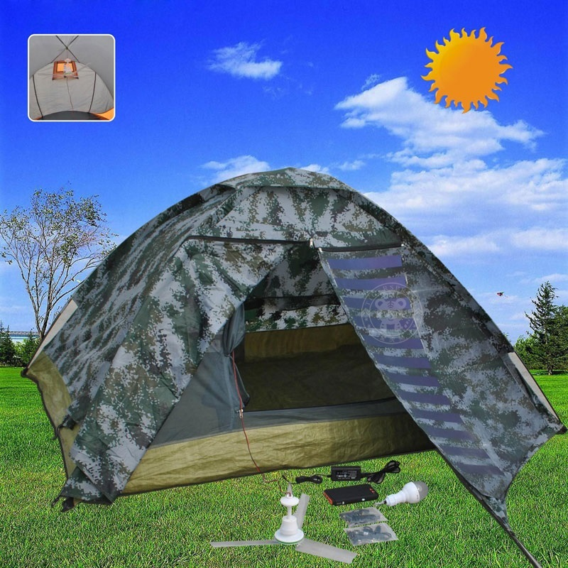 & 4 seasons camping tent solar power tent