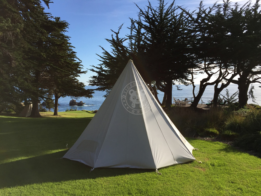 Canvas Bell Tent Teepee Tent Family Camping Tent