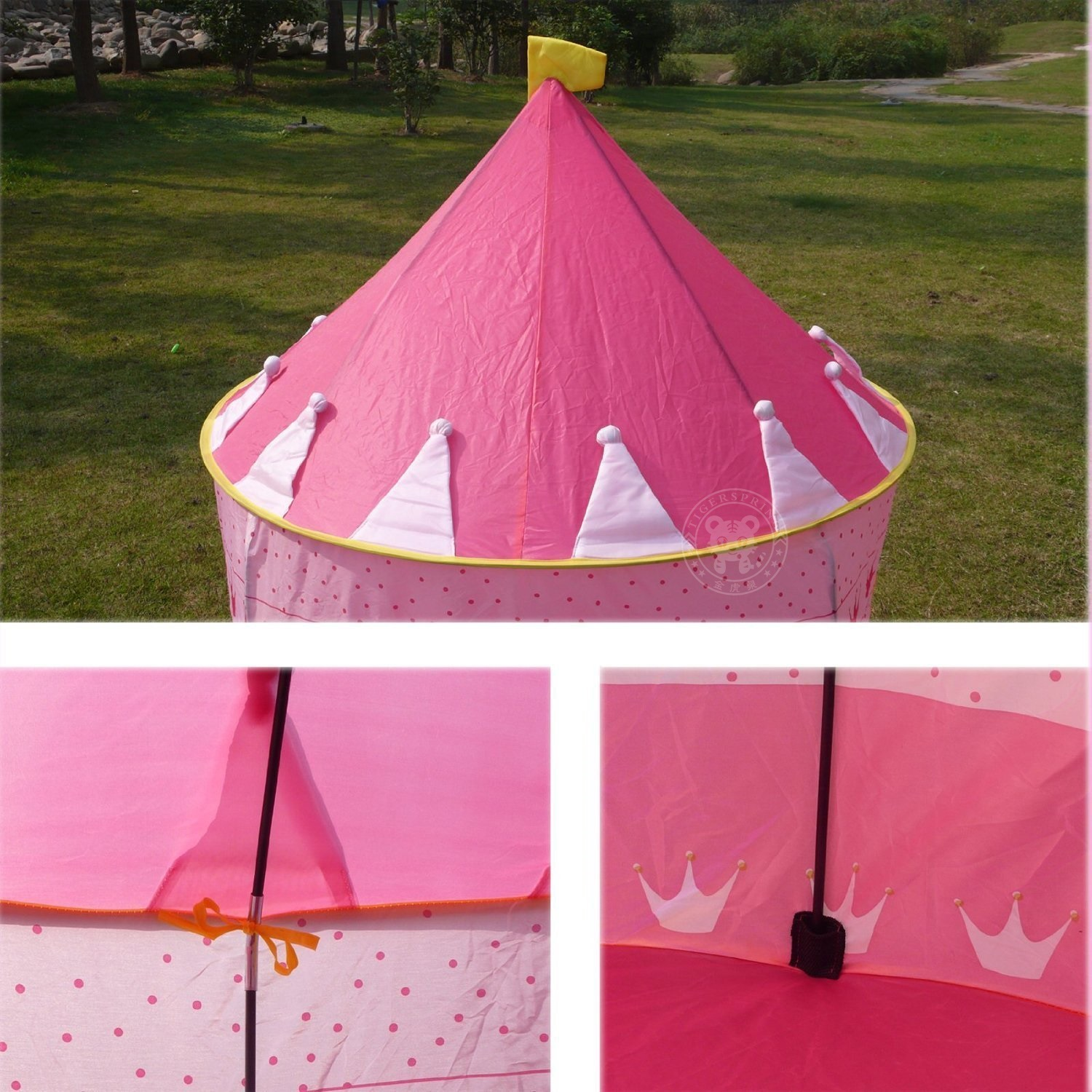 Kids play pop up princess castle tent ? Fun to Play Hide and Seek with Baby Tent ? Great Gift for your baby ? Simple Support with Steel Structure : princess pop up tent - memphite.com