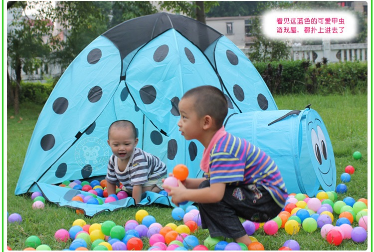 Kids play ladybug tunnel crawl tent. Tent house tunnel and smiley can be used separately. Tent house a childrenu0027s small world;  sc 1 st  outdoor-tent.com & ladybug kids play tent kid play tent