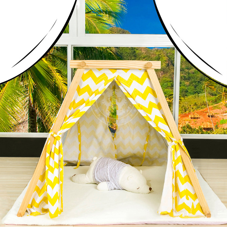 Indoor luxury cotton canvas colorful stripes and chevron for How to build a canvas tent frame
