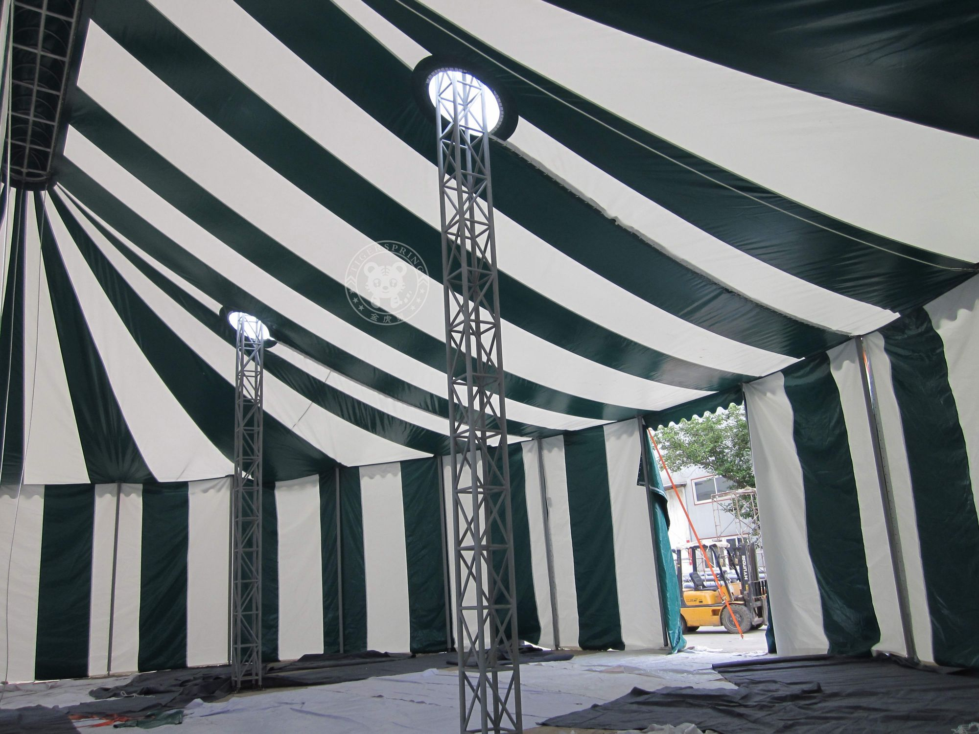1) Steel type High reinforced steel st37 carbonic 2) Eave connection type Internal galvanized steel insert 3) Connecting components Hot-dipped galvanized ... & circus tent circus tent for sale