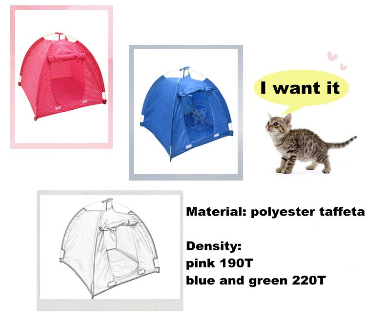 Pink blue there is a screen window on the top but the material is not waterproof indoor tent. Green no screen window on the top waterproof ...  sc 1 st  China Tigerspring Limited & pet lovely house small pet tent